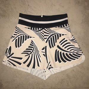 Zara Tropical-Print Shorts (Mid/High-Rise)